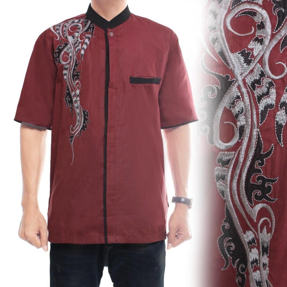 Glow fashion Baju koko atasan kemeja batik pria jumbo shirt Raka