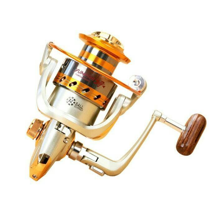 PROMO!!! Pancing Yumoshi Reel EF6000 Metal Fishing Spinning Reel 12 Bal Bearing - XWegLe