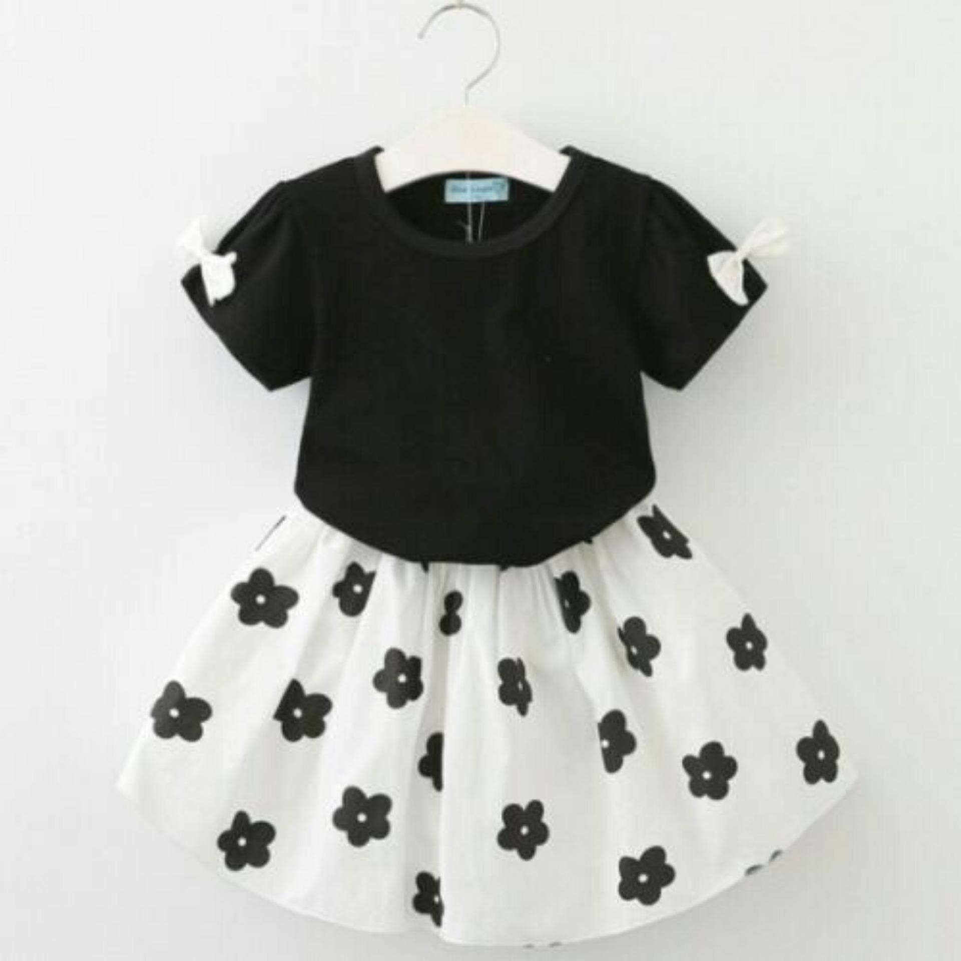 C&Buy Store Dress Anak Cewek FLOW POLKA / Dress Anak Perempuan / Baju Terusan Anak Perempuan