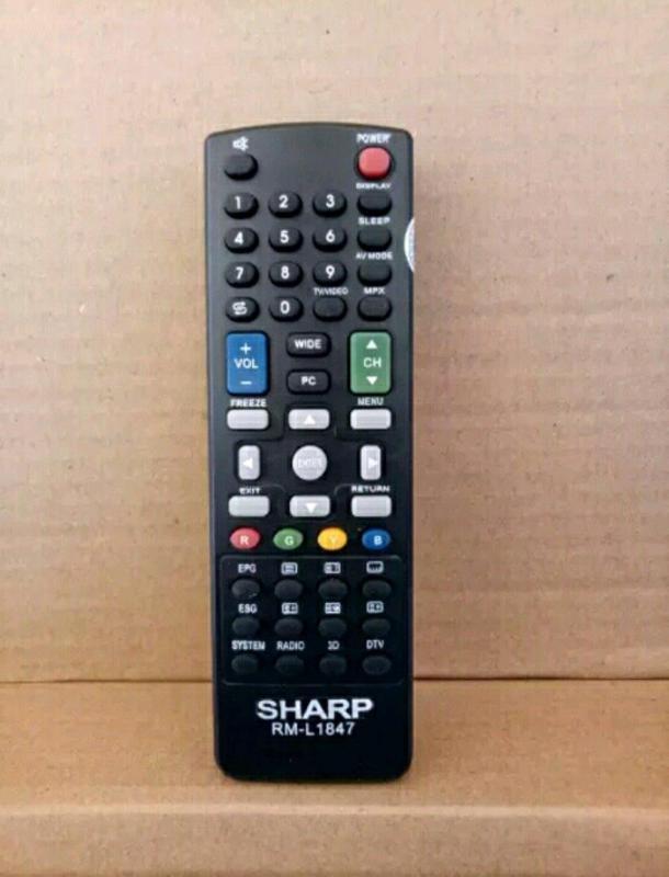 SHARP Remote Led Lcd Plasma Tv Utk semua Type - Hitam