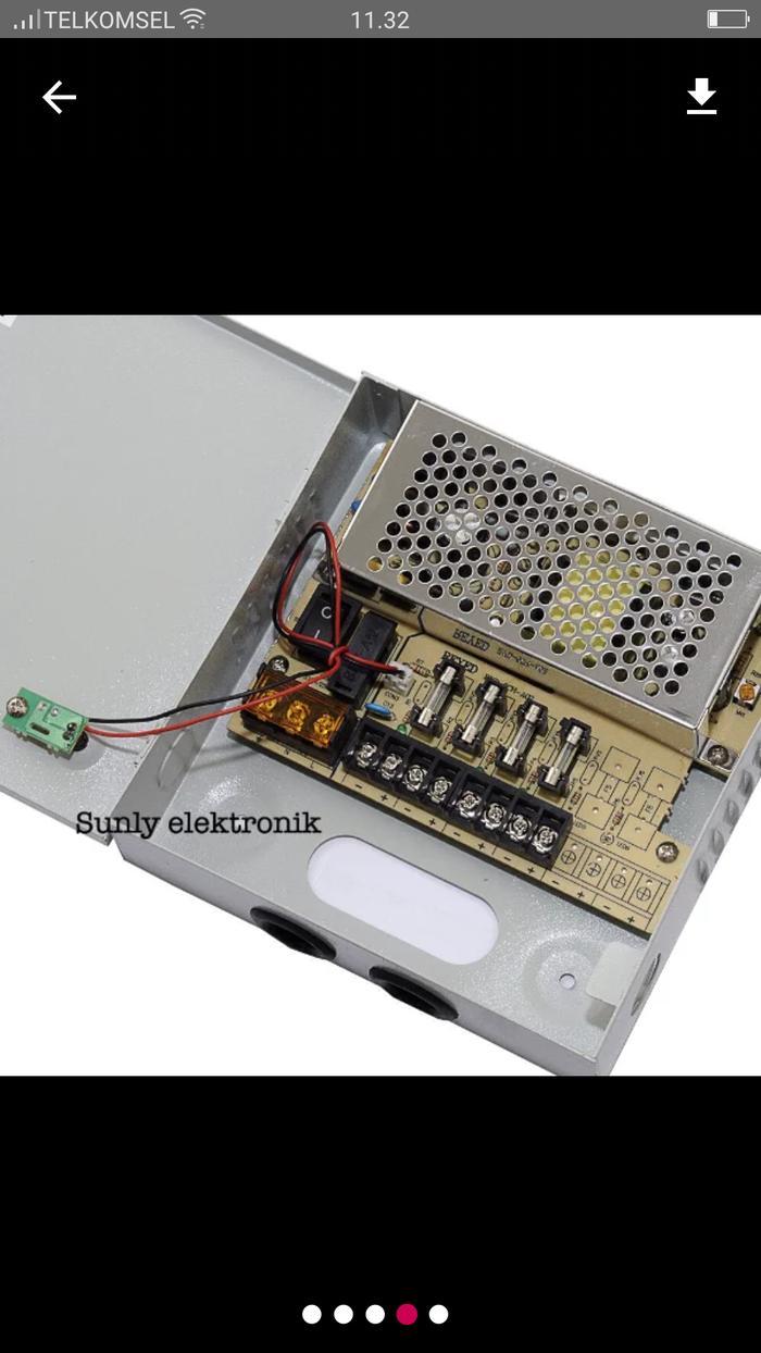 Power supply camera cctv taiwan 4channel (box 4ch) / power supply box
