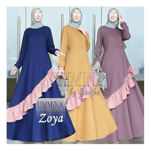 Baju Muslim Gamis Zoya Dress Ballotely