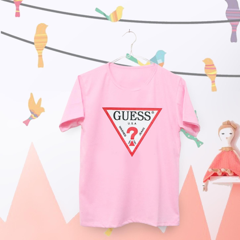 ELLIPSES.INC Tumblr Tee / T-Shirt / Kaos Wanita  Guess  -  Pink