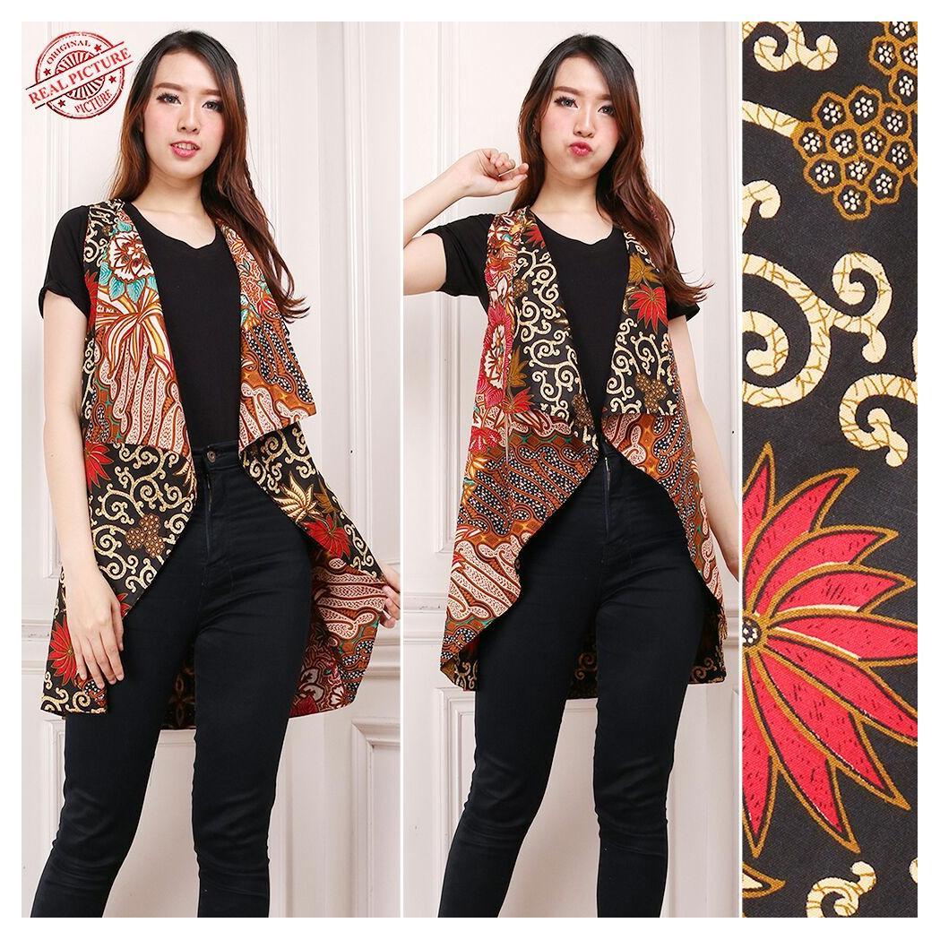 168 Collection 2in1 Atasan Blouse Uwiek Blazer Batik Wanita