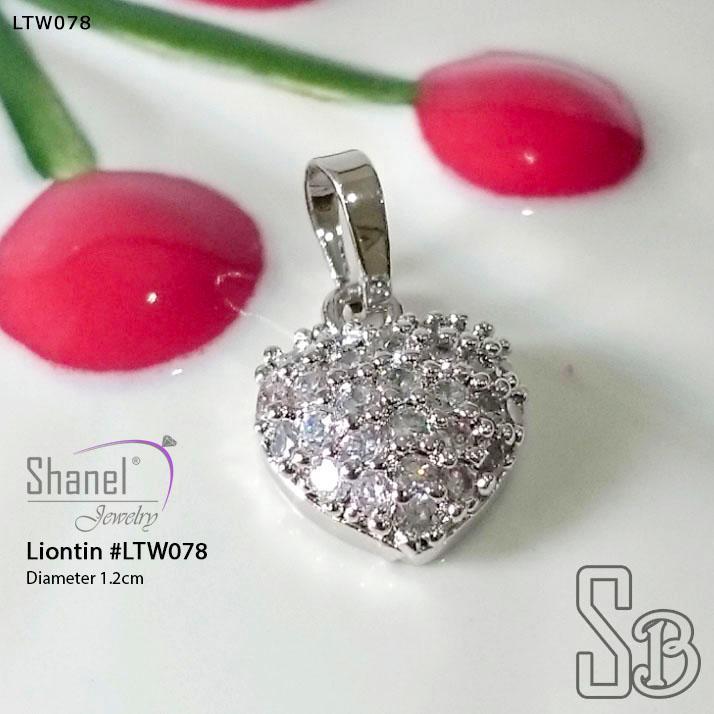 Xuping Jewelry Liontin LOVE Full Diamond Perhiasan Lapis Emas 18k LTW078