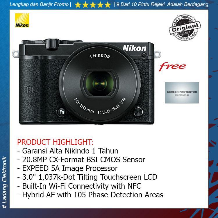 Nikon 1 J5 Kit 10-30mm Kamera Mirrorless (Free Screenguard) / Garansi Altanikindo 1 Tahun