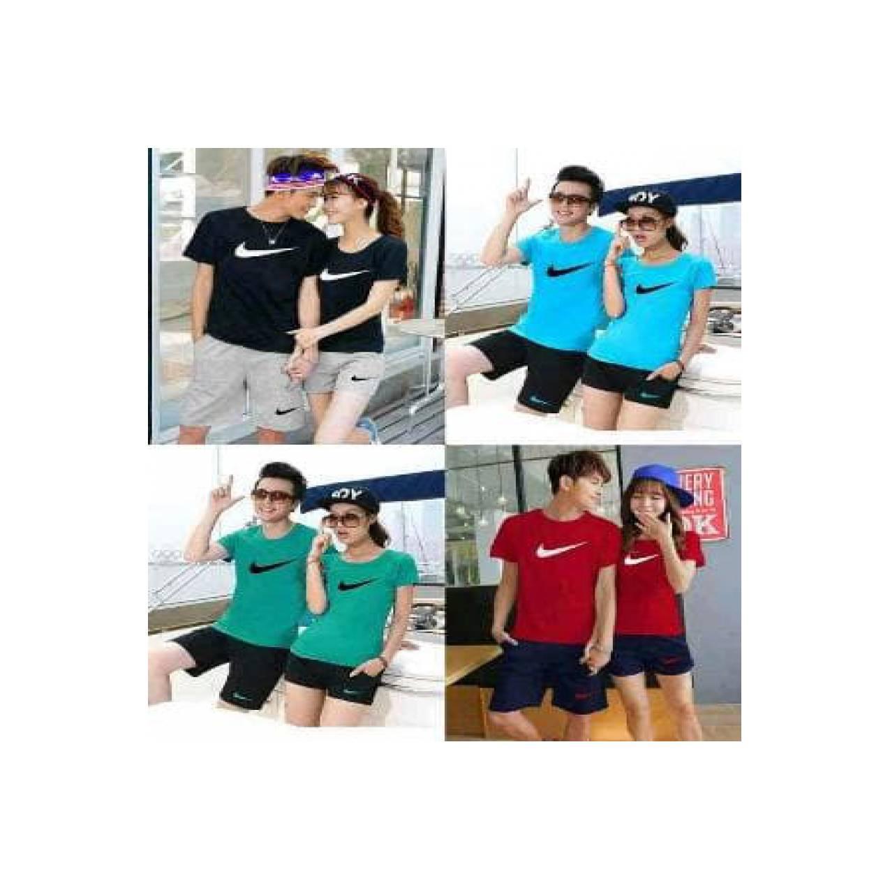 CS Nike - baju couple stelan - baju celana couple - baj Diskon
