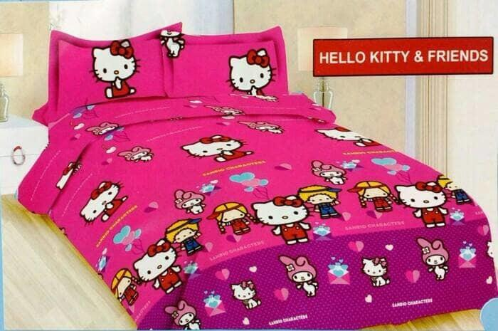 Sprei Bonita King 180x200 Hello Kitty & Friends Seprai Sprai Sepray By Nemo Store.