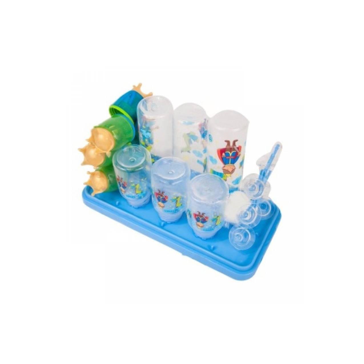 Rak Botol Set Isi 6 botol / Bottle Rack Set Lynea 3in1 /Botol Bayi Set