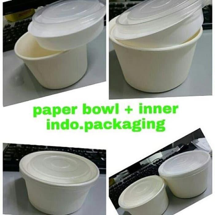 Rp 22.150. HARGA DISKON!!! Paper Bowl inner 600ml | Mangkok kertas 600ml
