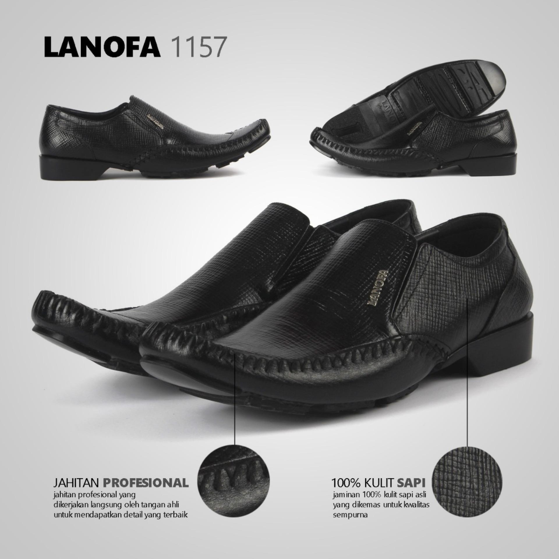 Sepatu Pantofel Pria 100%Kulit Asli LANOFA 1157 Di Jakarta