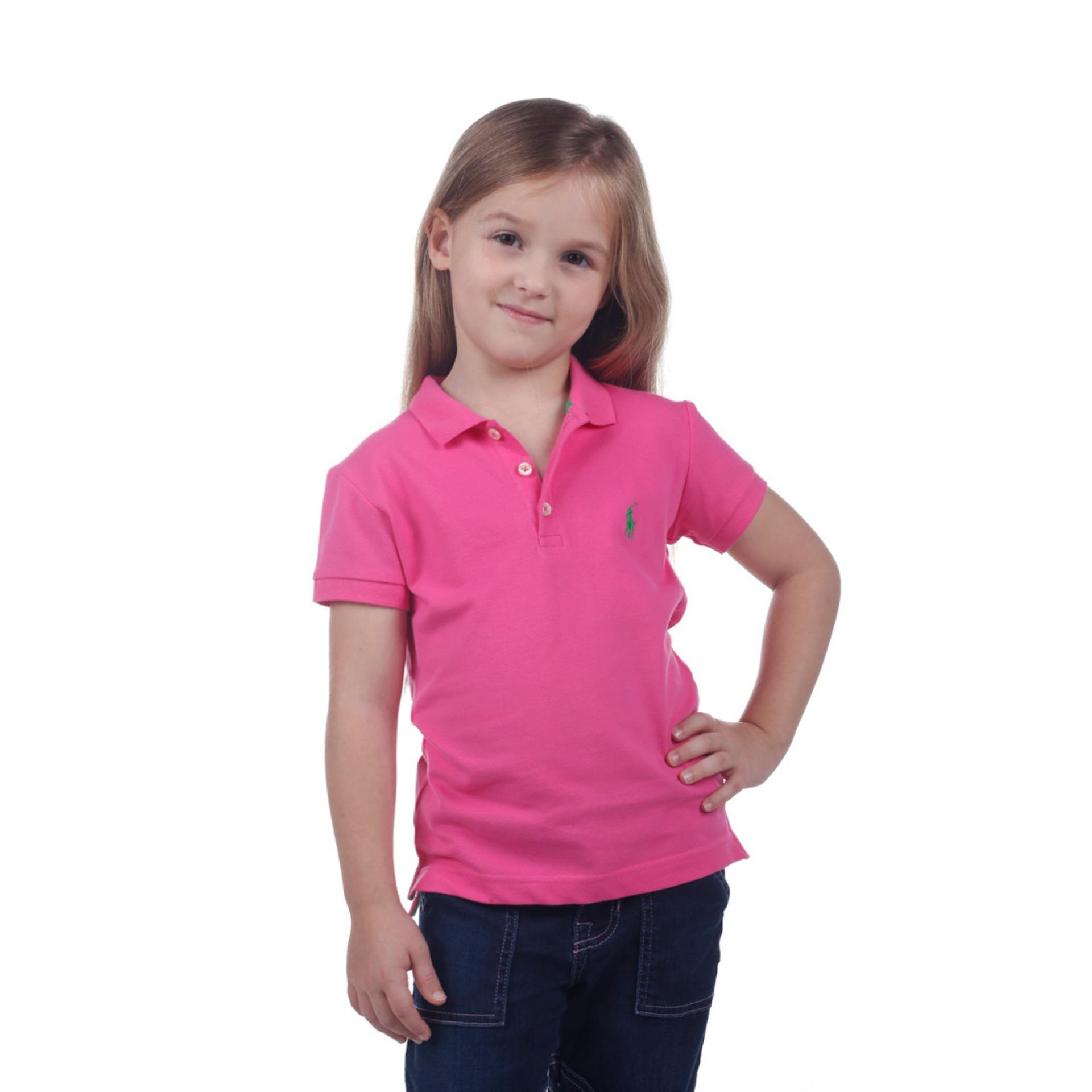 POLO RALPH LAUREN - POLO SHIRT CUSTOM FIT S/S Maui Pink KIDS GIRL