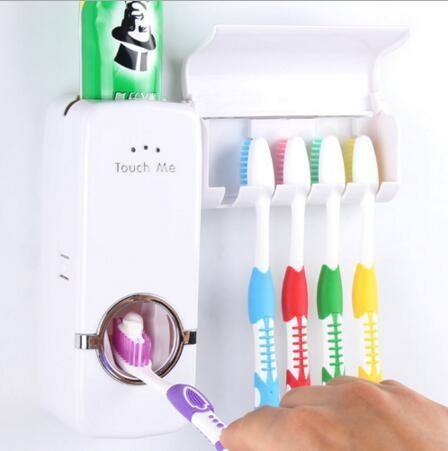 Dispenser Odol Toothpaste Dispenser & Brush Set WHITE Pasta Gigi Sikat Gigi