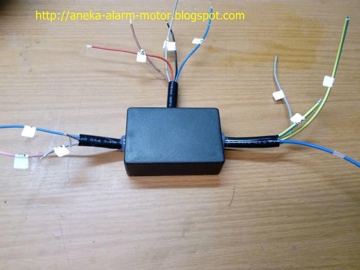 Modul starter remote Ninja 250cc jika pasang alarm motor | ( gembok alarm motor anti maling koper sepeda pagar cakram kinbar kode tas mobil clock rumah sensor gerak pintu digital remote lock bht ) |