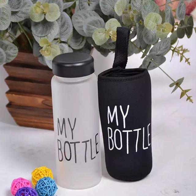 MY BOTTLE DOFF BOTOL MINUM FREE POUCH INFUSED WATER 500ML-TLSHOP