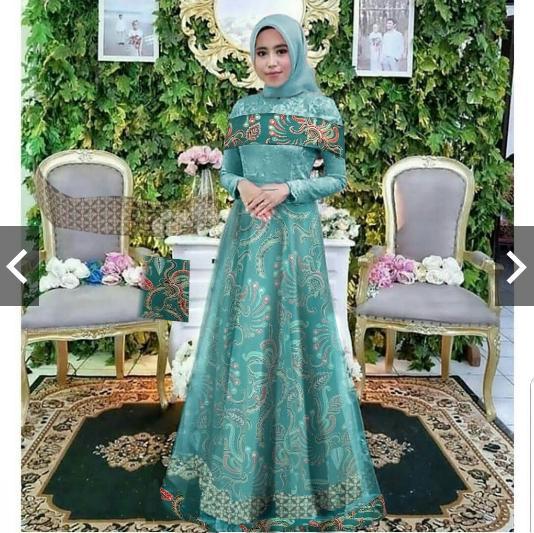 Kumpulan Harga Dress Batik Pesta Elegan Muslim 2018 Batik Indonesia