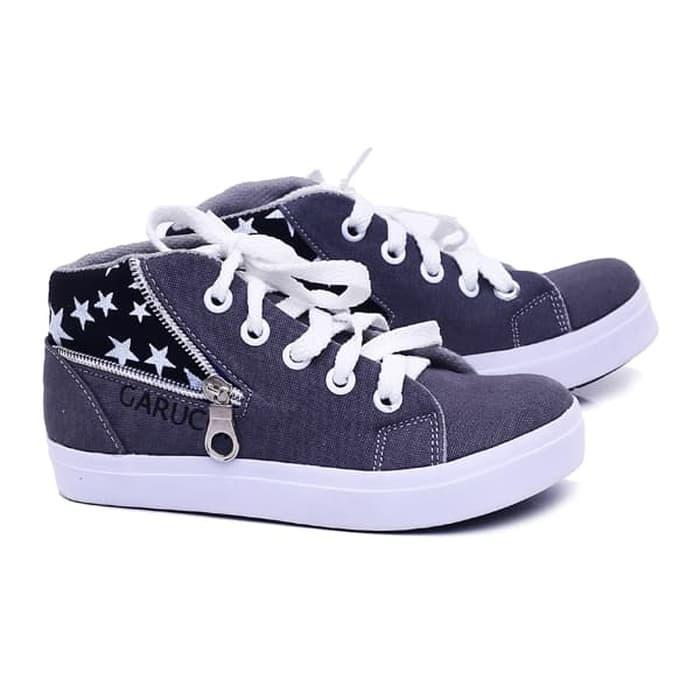 Sepatu Anak Bisa Pria Wanita Kets Sepatu Casual Sneaker Boots keluaran terbaru kualitas bagus harga murah model terbaru warna hitam