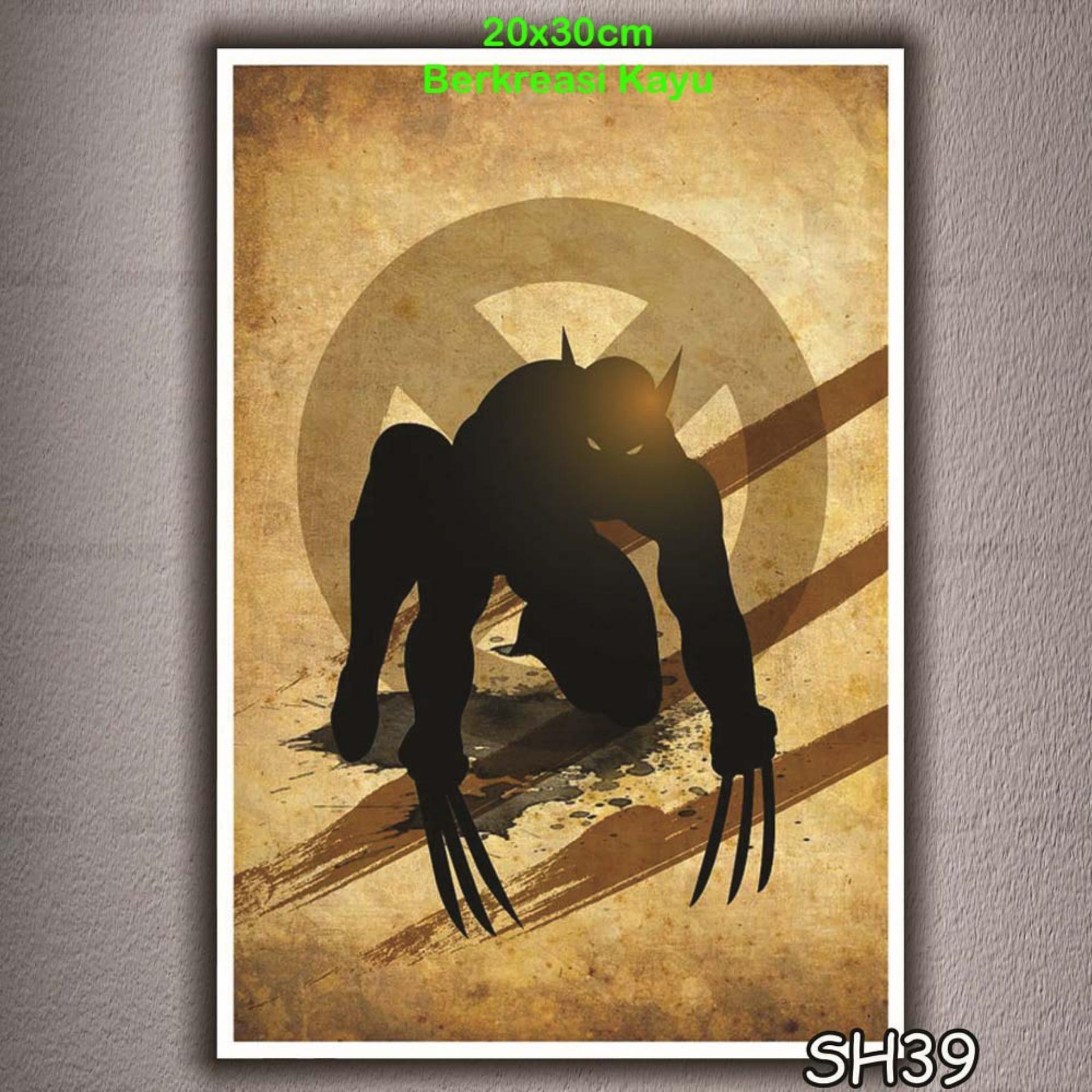 Vasty Hiasan Dinding Kayu Wall Decor Poster Super Hiro VSH-39