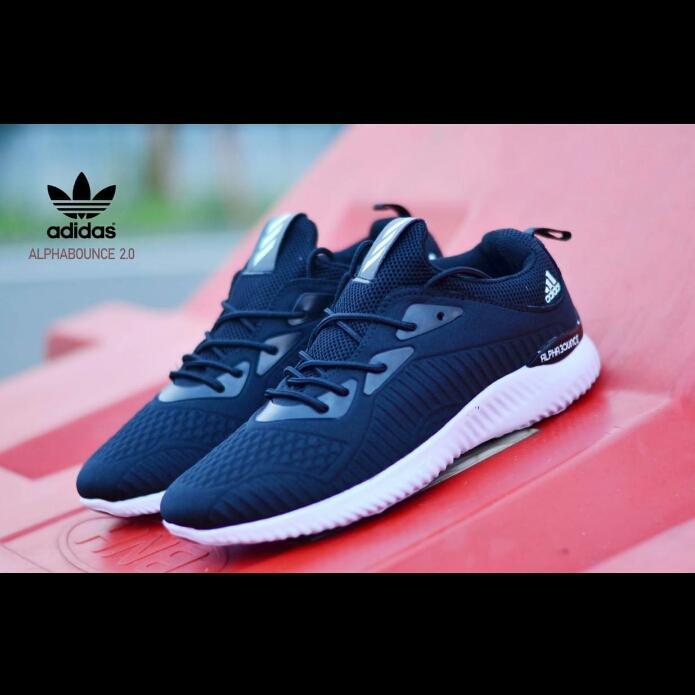 Promo Sepatu Casual Sport Adidas Alphabounce Full Hitam Import (Sepatu Olahraga, Sepatu Kerja, Sepatu Jalan, Sepatu Santai, Sepatu Sekolah, Sepatu Joging, ...