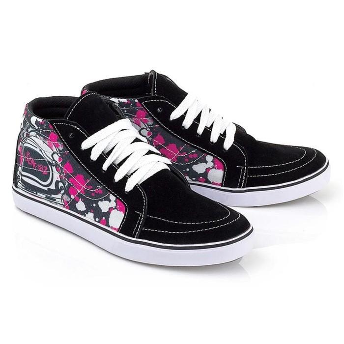 Murah Meriah Sepatu distro anak perempuan canvas hitam - Sepatu anak motif BKL