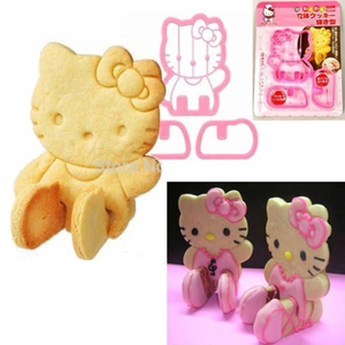 Hello Kitty 3D Cookie Bread Toast Cutter Mold Mama Cook Cetakan Kue