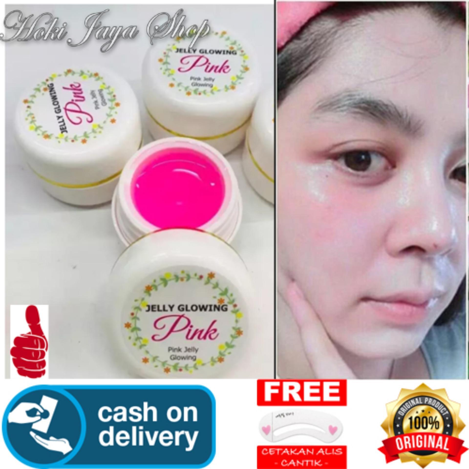 HOKI COD - Jelly GLOWING Pink Whitening Cream Original 100% - HN + Gratis Cetak
