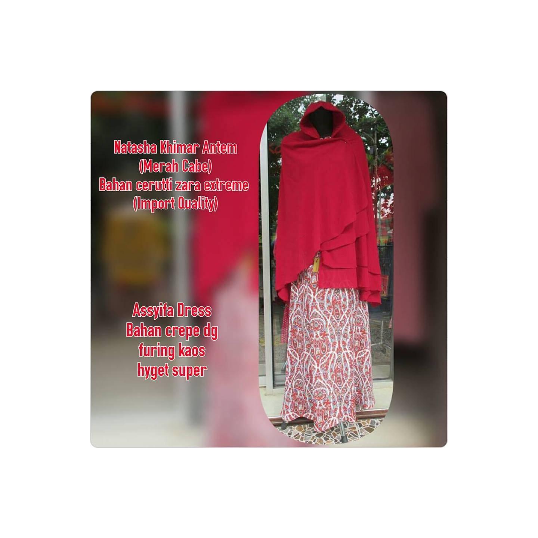 Assyifa Dress & Natasha Khimar by Uwais Hijab