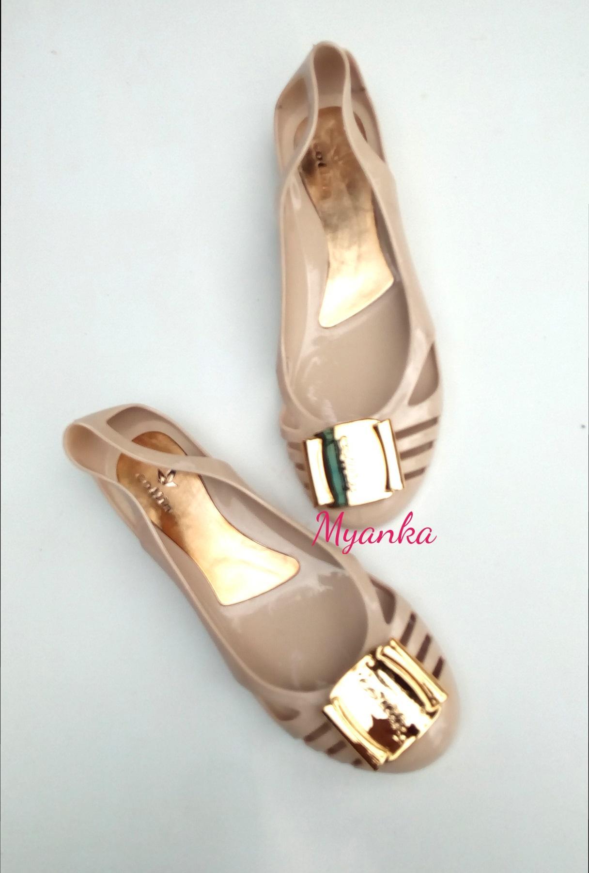 Myanka Jelly Shoes Flat Collin New (Krem). Info Harga JuaL Promo Sepatu ...