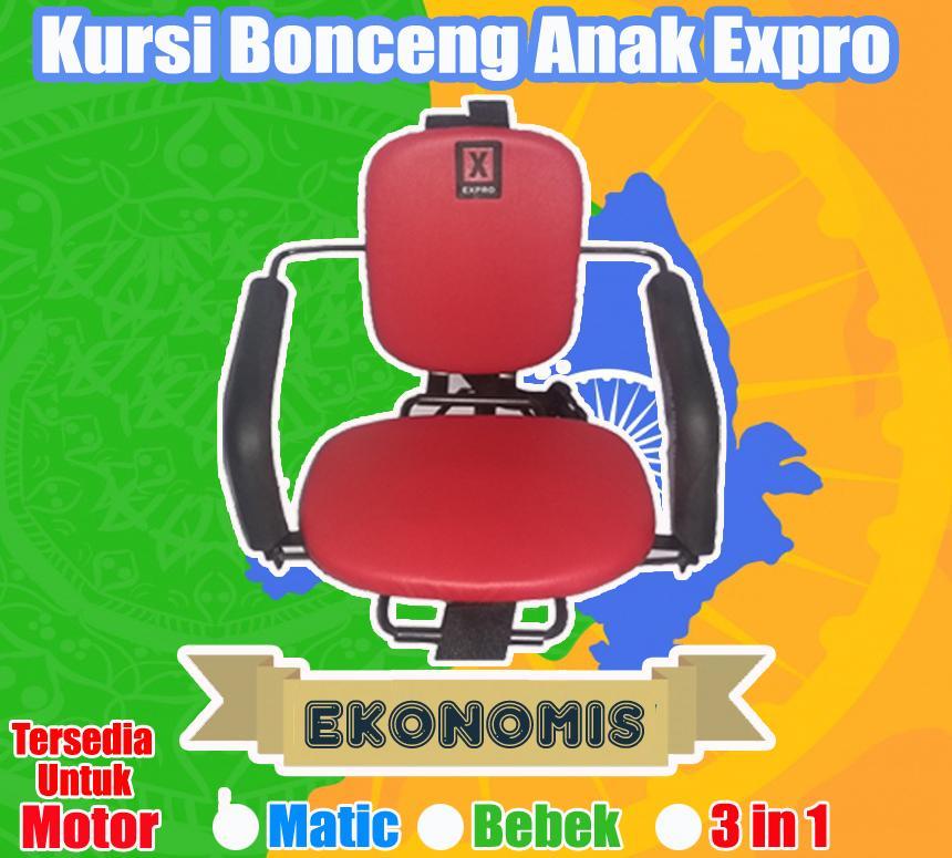 Expro Kursi Bonceng Motor Anak Matic - Merah