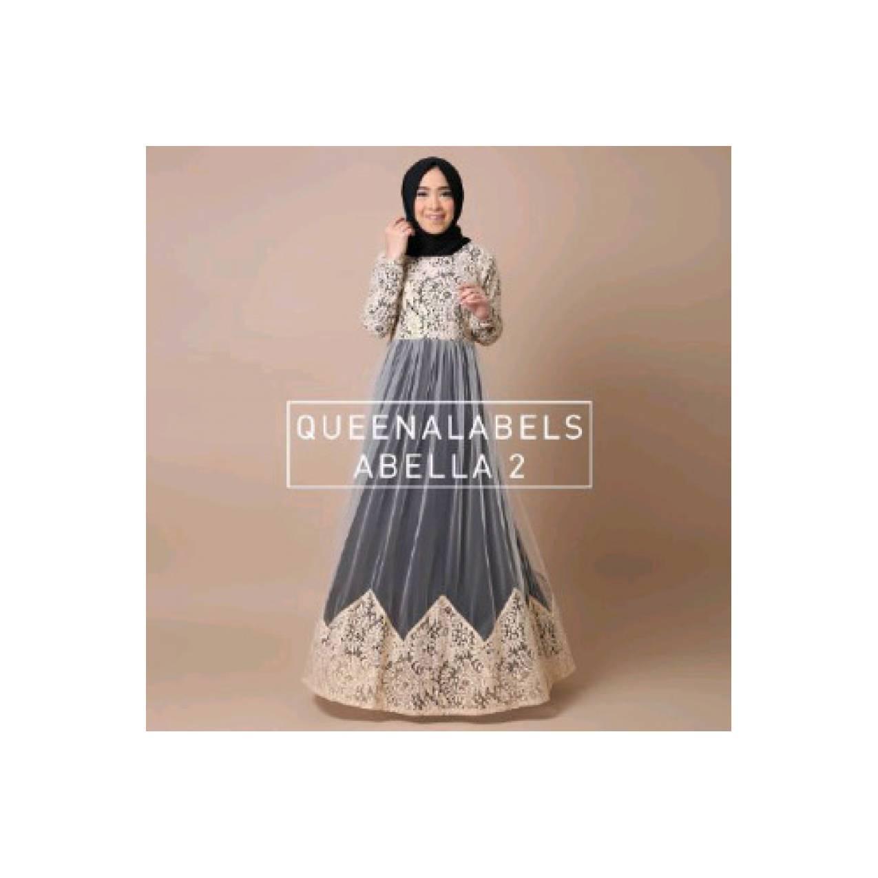 Abella seri 2 ori by queenalabels (dress/busana muslim/baju/gamis)