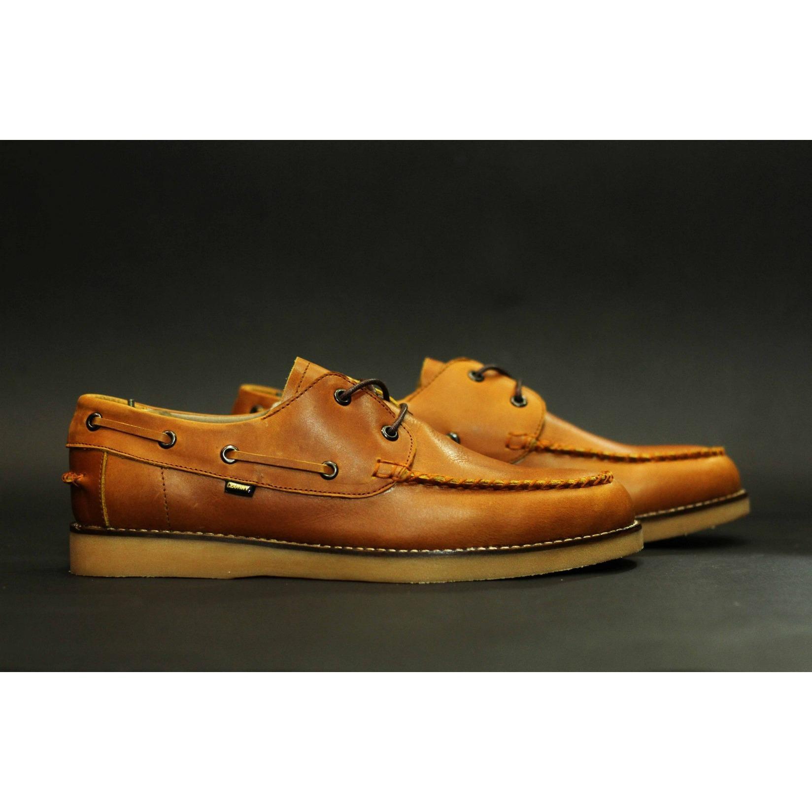 sepatu kulit asli zapato merk cevany casual santai elegance import pria tangguh