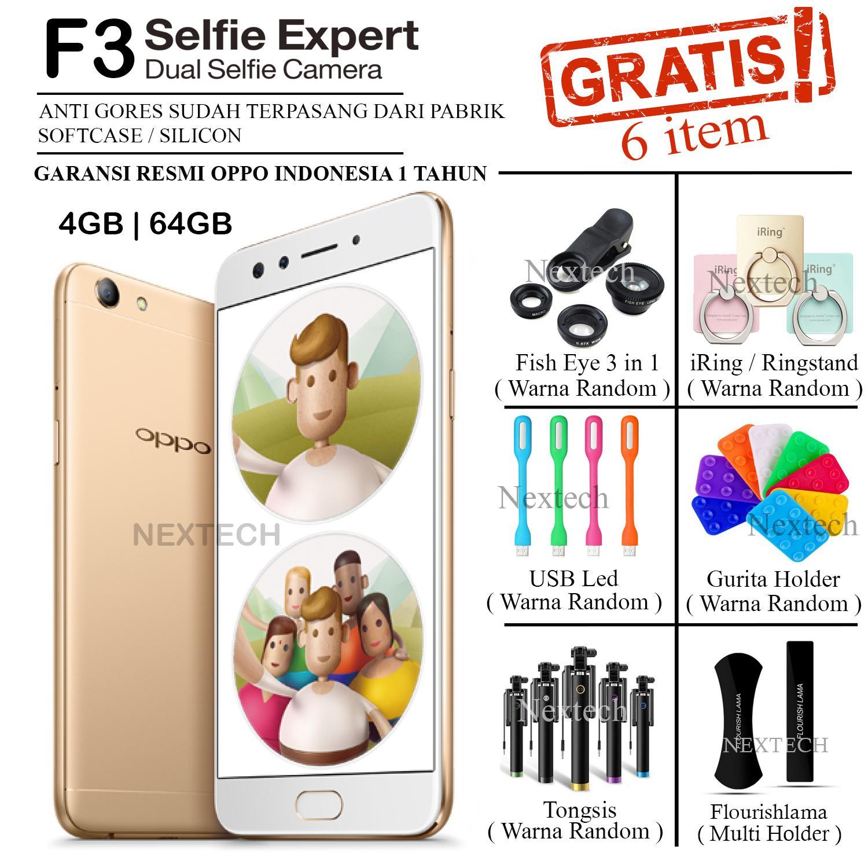 Oppo F3 - Dual Selfie Camera - Ram 4GB - Rom 64GB - Crown Gold