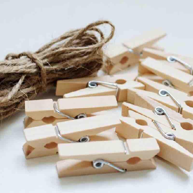 Wooden klip - klip kayu - klip foto - photo clip - klip lampu tumblr - clip polaroid