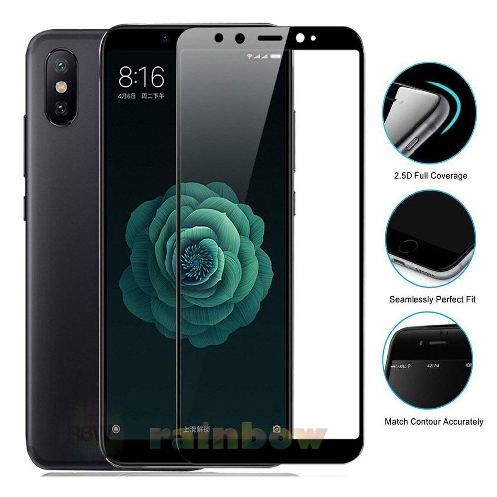 Rainbow Tempered Glass Xiaomi Mi 6X Full Screen Protector Xiaomi Mi 6X Black Temper Xiaomi Mi 6X / Tempered Xiaomi 6X Tempered Full Screen Xiaomi 6X / Tempered Full Layar / Pelindung Layar Hp / Anti Gores Kaca / Temper Glass Xiaomi 6X - Hitam