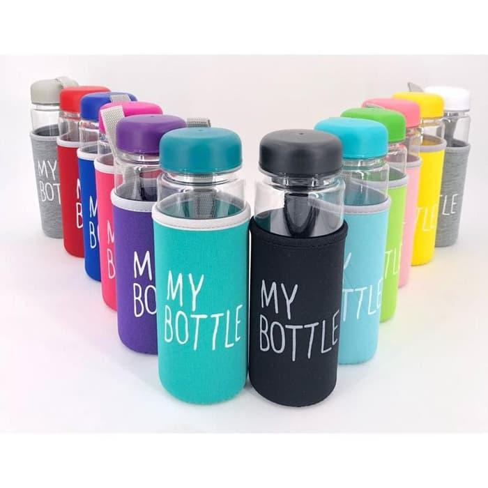 Botol Air Minum My Bottle Bening Free Pouch Busa Infused Water Bottle MURAH BERKUALITAS READY STOK