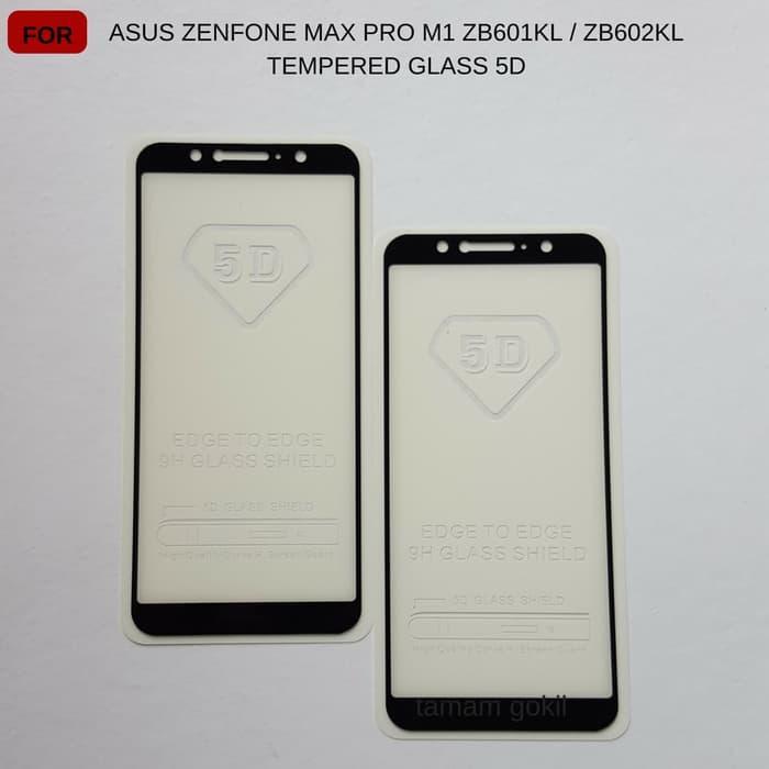 Asus Zenfone Max Pro M1 ZB601KL / ZB602KL Tempered Glass Color 5D Full Cover Ambigo - Hitam