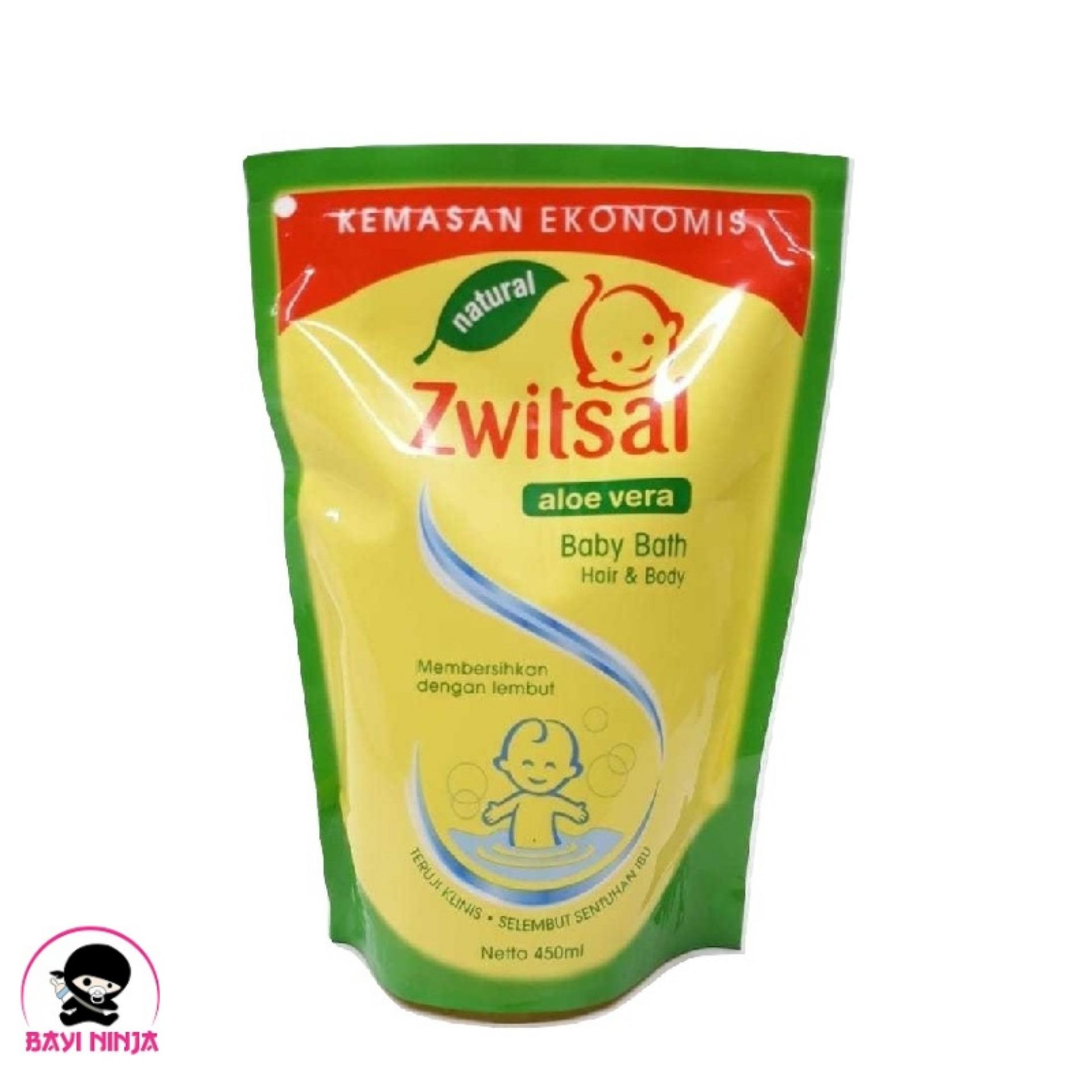 ZWITSAL Natural Baby Bath 2in1 Pouch 450ml / 450 ml