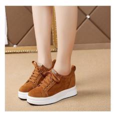 Sepatu Wanita Kets Casual SDS256 Tan / Sepatu Sneakers Wanita Boots Boot Casual harian Kerja kantor
