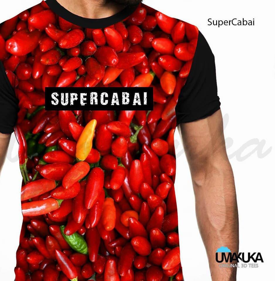 kaos super cabai 3d fullprint umakuka