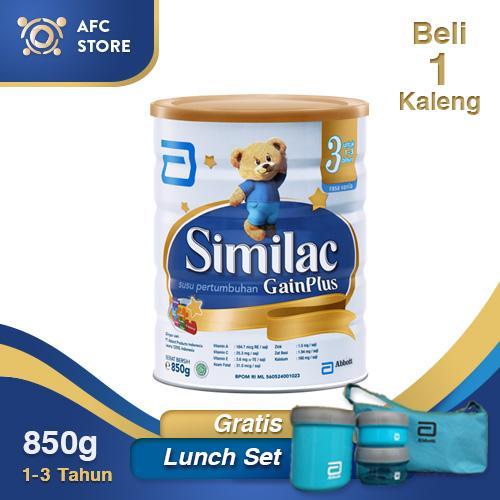 Similac Gainplus 850 beli 1free  Lunch Set