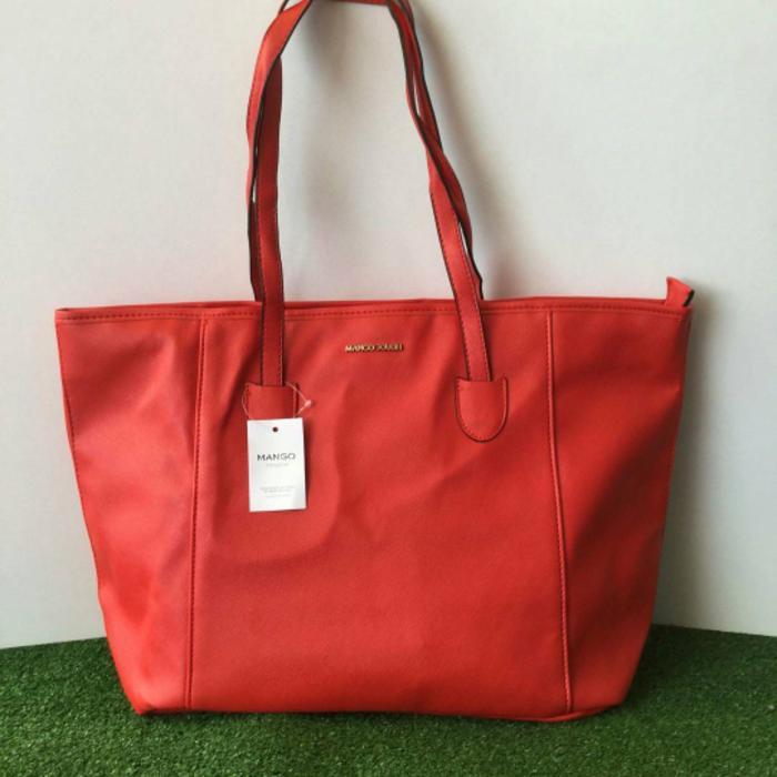 BEST SELLER!!! ORIGINAL Mango Tote Bag With Zippper - MKF4YX