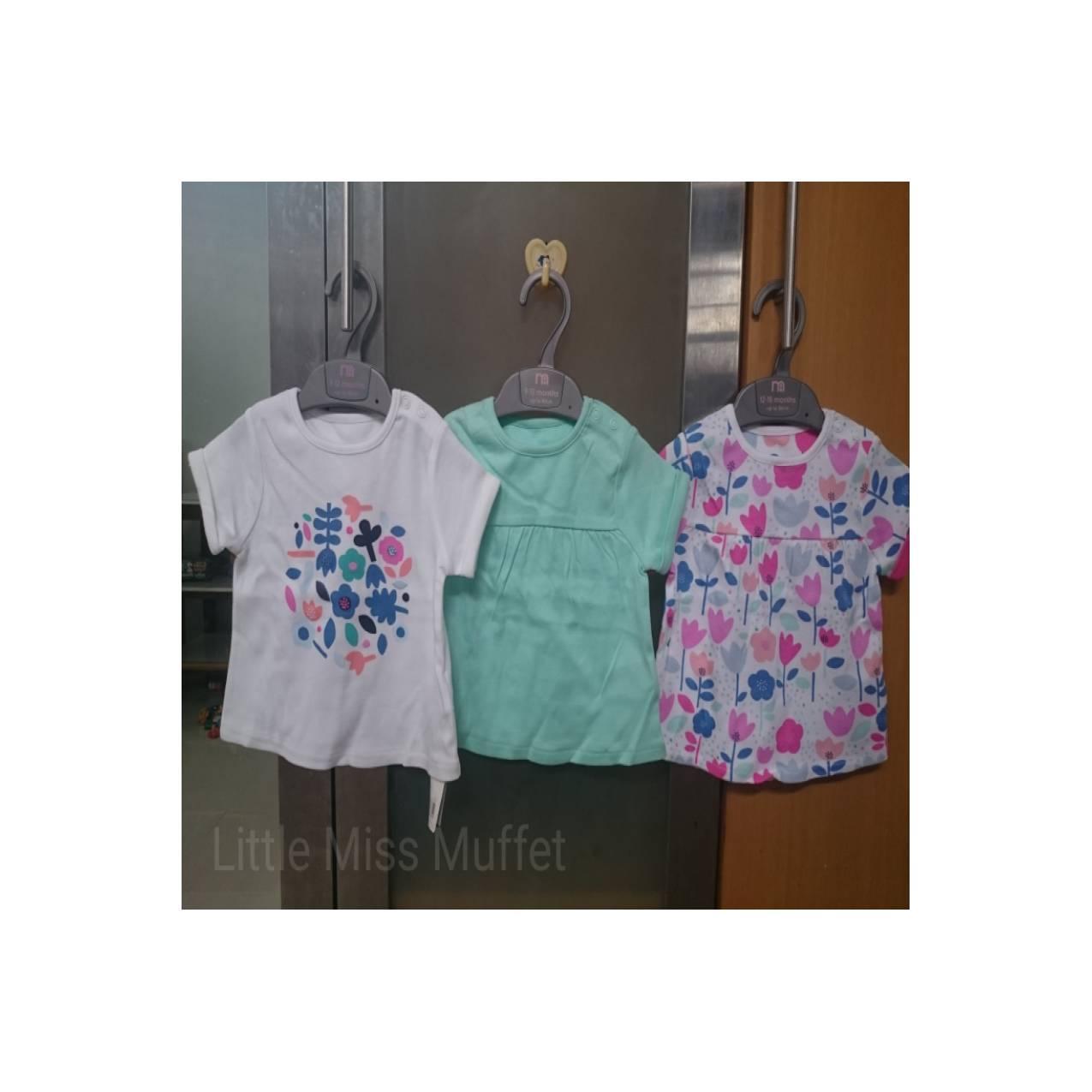 Mothercare pack of 3 Kaos Bayi