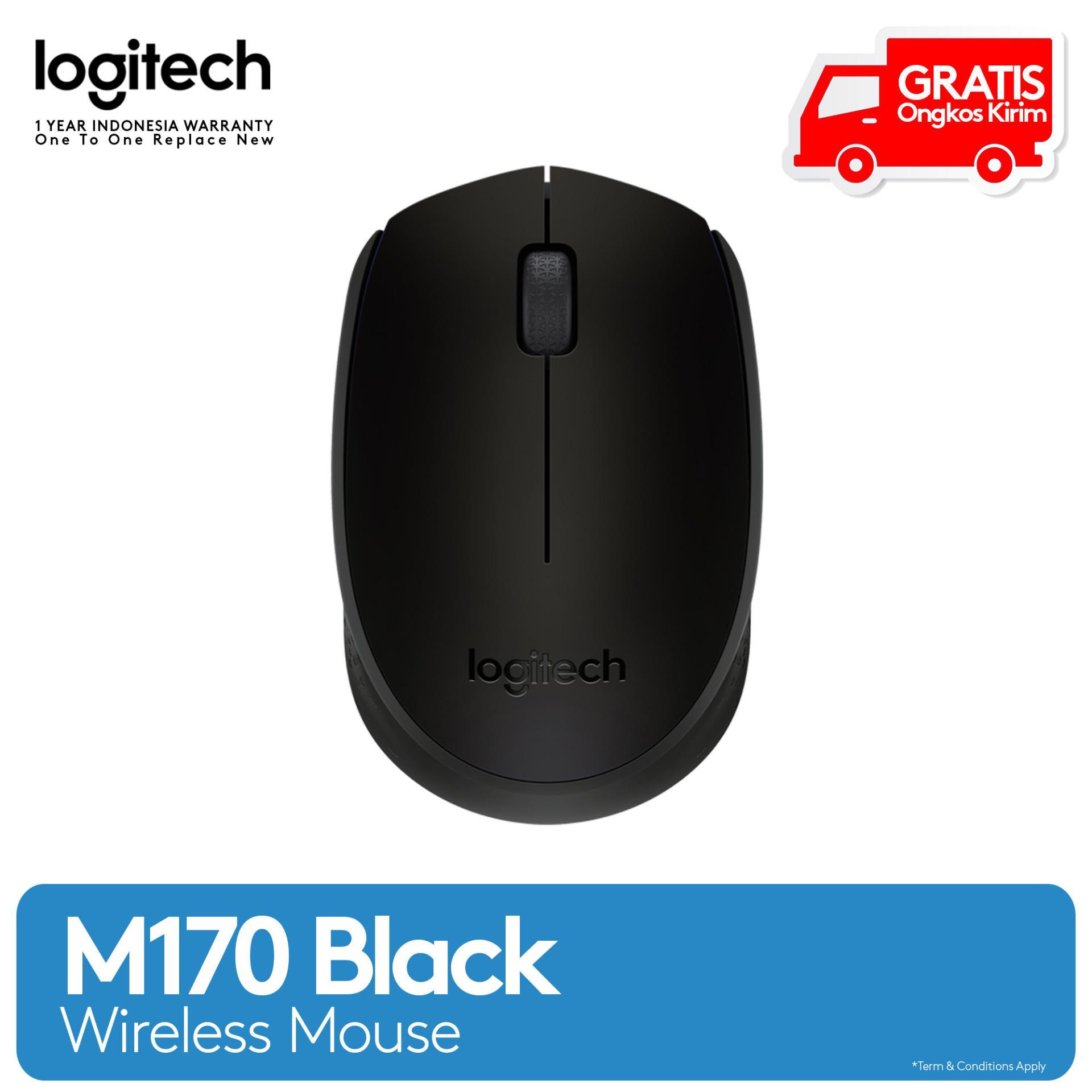 Logitech M170 Wireless Mouse - Hitam