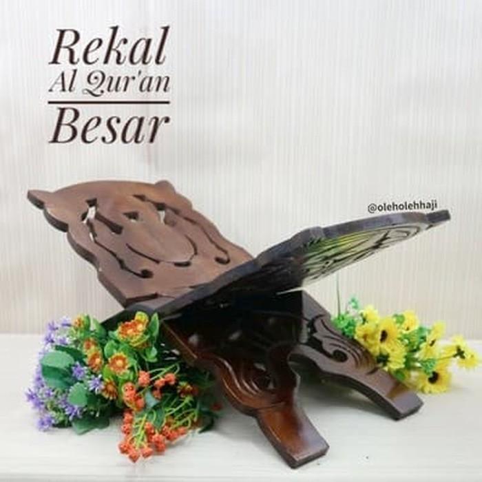 Rekal Baca Al Quran Kayu Alas Ukir - Besar By Asro Shop.
