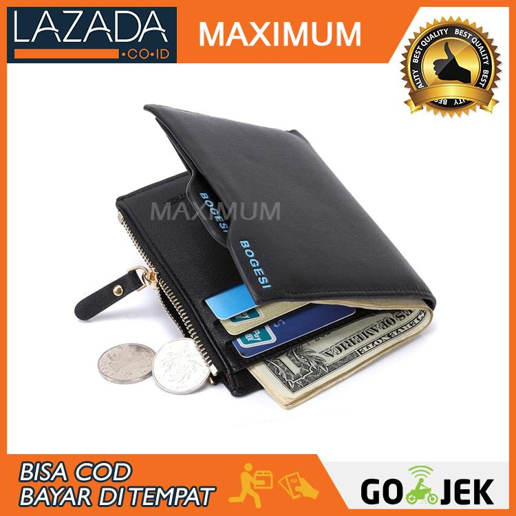 MAX COD - Bogesi Dompet Kulit Pria PU Synthethic Leather Men's Wallet
