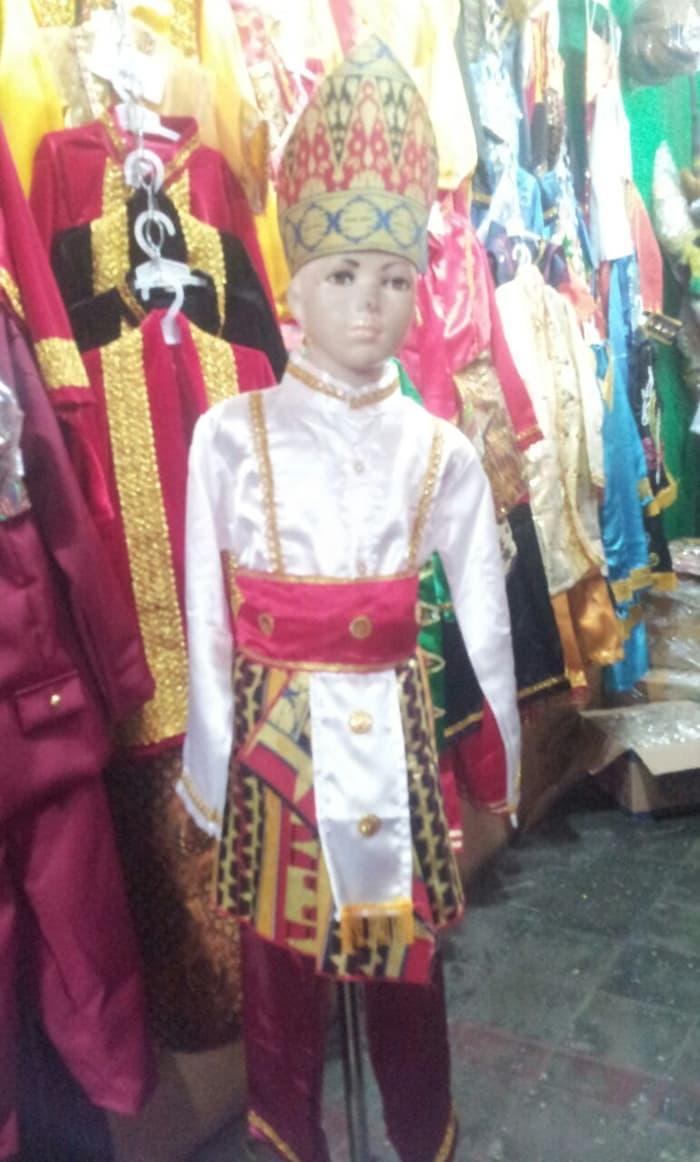 Terbaru! Pakaian Baju Adat Daerah Karnaval Lampung Cowok Sd-Smp - ready stock