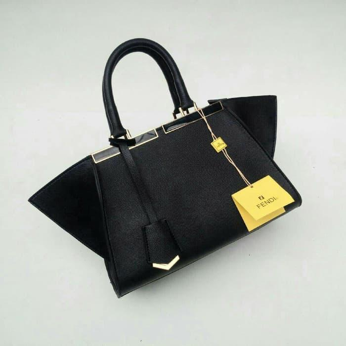 BEST SELLER!!! Tas wanita cewek branded fashion handbag Fendi 3 jours Black -