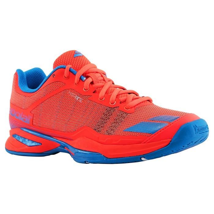 Sepatu Tennis Babolat Jet Team All Court - Red/Blue Original
