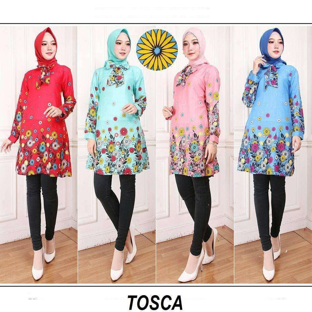 CGF Fashion - Baju Atasan Dress Tunik Wanita Naresa Bahan Katun Kembang