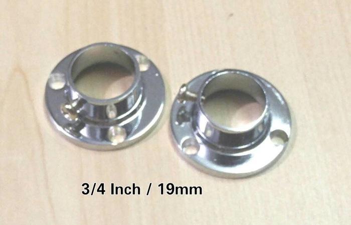 Bracket Topi 3/4 inch / Dop Pipa Bulat / Sambungan Pipa Bulat
